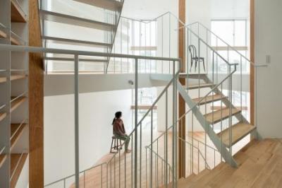 上大崎の家 (吹き抜け・オープン型階段)