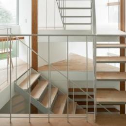 上大崎の家 (各スペースを繋ぐ階段・吹き抜け)