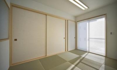 琉球畳を敷き詰めた和室|津市のA邸