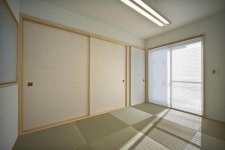 津市のA邸の部屋 琉球畳を敷き詰めた和室
