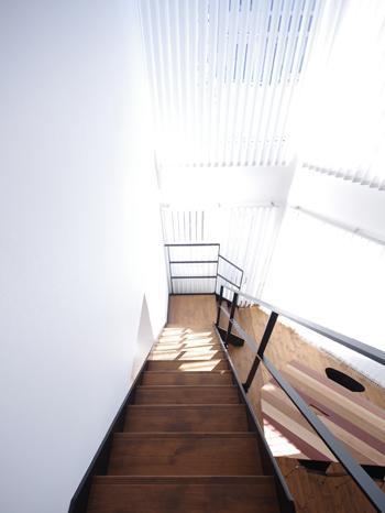 ヒカリヲツカムの部屋 階段から見下ろして