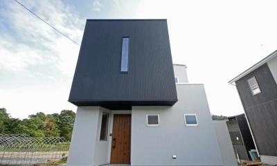 黒と白のBOX house (白と黒のキューブ型住宅)