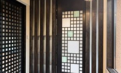 陶芸工房のある家 (玄関)