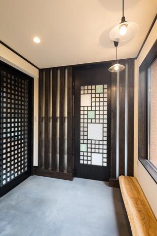 陶芸工房のある家の部屋 玄関