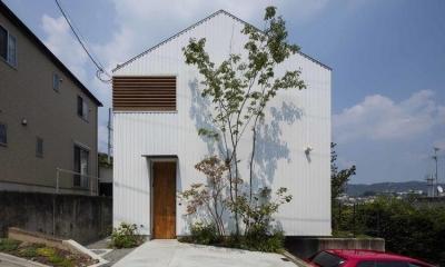 生駒の家 (シンプルで南北に流れる切妻屋根の外観)