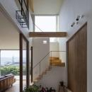 生駒の家の写真 天井の高さが6.7メートルある玄関