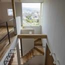 2階廊下から見下ろす