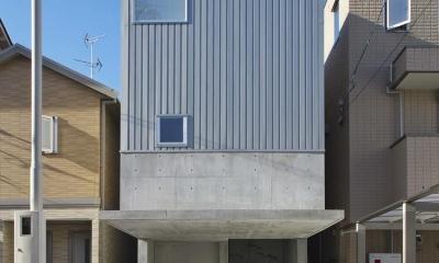 鉄筋コンクリート造+木造の外観|阿倍野の家