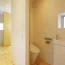 阿倍野の家の写真 引き戸のトイレ