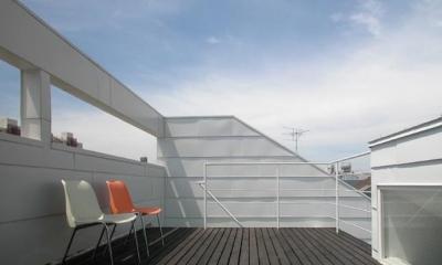 目黒区M邸 (360°展望できる10.7帖の広いルーフテラス)