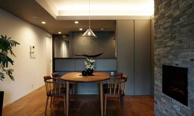 キッチン|暖炉を囲む暮らし