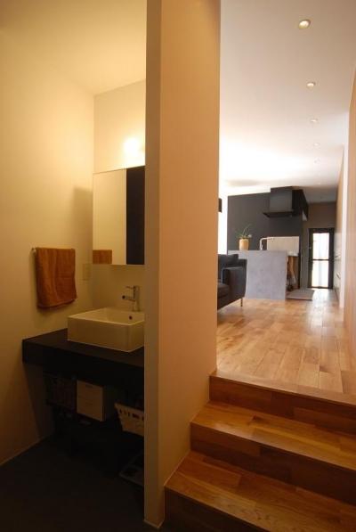 手洗いスペース・LDK (Rias House #138)