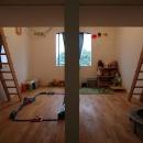 ロフト付き子供部屋