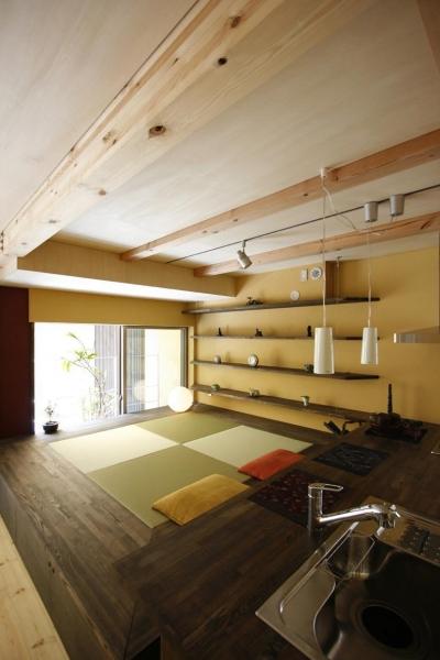 畳スペース (中国黄土の家)