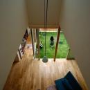 吹き抜けから1階を見下ろす