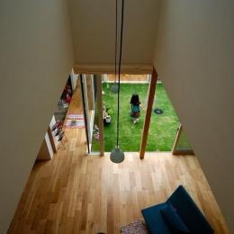 Matryoshka house #113 (吹き抜けから1階を見下ろす)