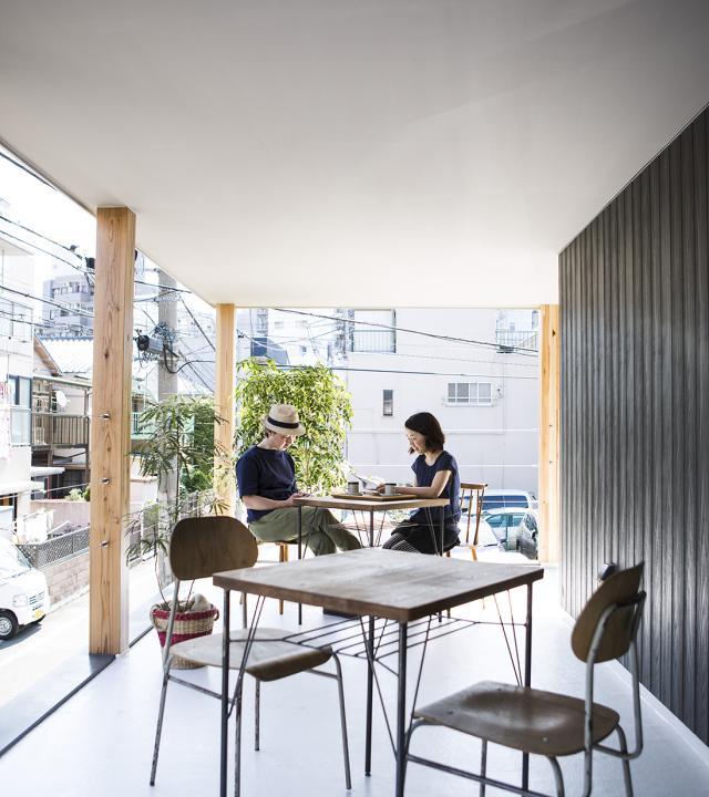 運ぶ家の部屋 開放的なテラス