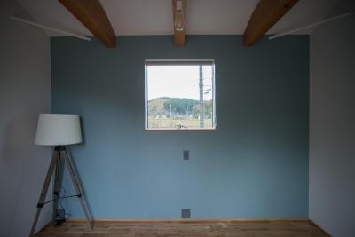 寝室2 (西山の住まい_土間床のある暮らし)