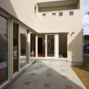 田向の家の写真 コの字プランの建物外観