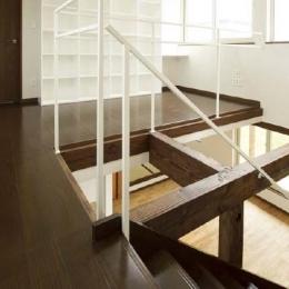 ドッグリビングのある家 (吹き抜け・2階廊下)