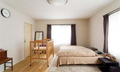 家中の導線を再構築した住まい (寝室)