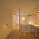 石江の家の写真 吹き抜けに設けた書斎スペース