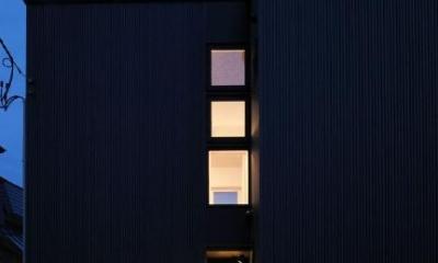 新田の家 (外観 夜景)