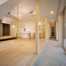 新田の家の写真 土間と吹き抜けで開放的なLDK