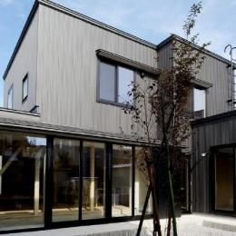 新田の家 (中庭・外観)