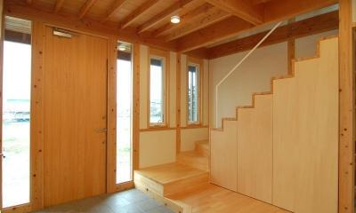曲沢の家 (玄関・階段)