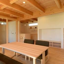 西小保方の家-自然素材に包まれた心地よいダイニング