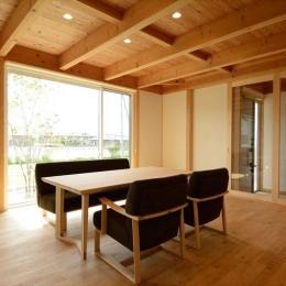 西小保方の家 (自然素材に包まれた心地よいダイニング)