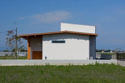 平屋建ての外観 (西小保方の家)