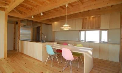 女渕の家 (キッチン横のダイニング)