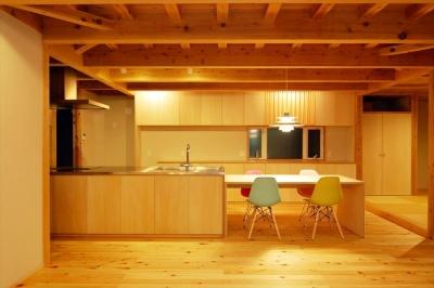 ダイニングキッチン (女渕の家)