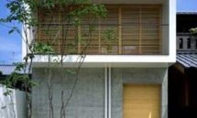 紫野の家 (コンクリート打放しの外観)