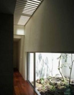 紫野の家 (廊下から見る中庭)