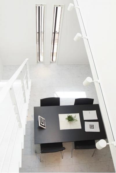 天井が高い空間 (Mハウス 施工例1)