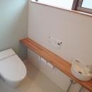 Mハウス 施工例4の写真 落ち着く空間のトイレ
