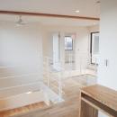 Mハウス 施工例4の写真 シーリングファンのある2階廊下