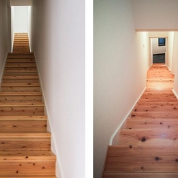 花園町の長屋 (木を感じる長い階段)