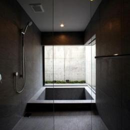月栖の家(つきすみのいえ)~プライバシーと街並みの両立~ (バスルーム)