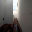 矢絣の家の写真 雨上がりのバルコニー