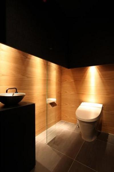 落ち着いた雰囲気のトイレ (瀬石の家~落ち着きのあるLDK~)