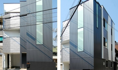 東住吉の家Ⅰ (3階建ての外観)