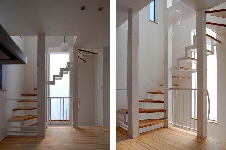 東住吉の家Ⅰ (空へ抜ける階段)