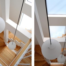 東住吉の家Ⅰ (階段を見下ろす)