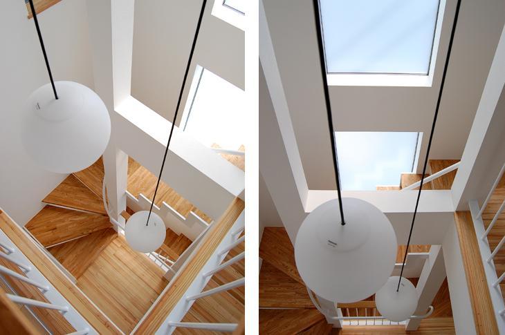 東住吉の家Ⅰの部屋 階段を見下ろす