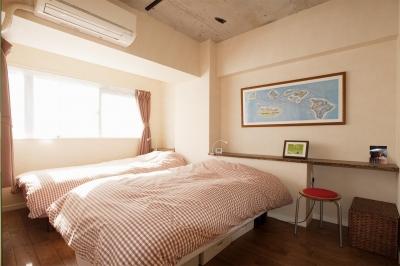寝室 (T邸・さわやかな風の吹き抜ける住まい)