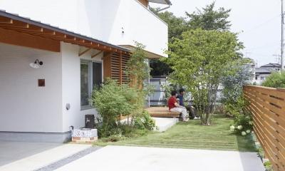 山崎の住宅 (庭)